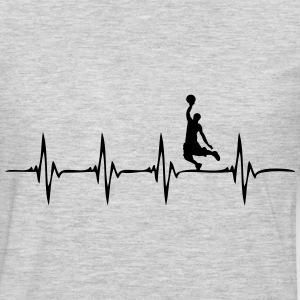 Heartbeat Basketball - Men's Premium Long Sleeve T-Shirt