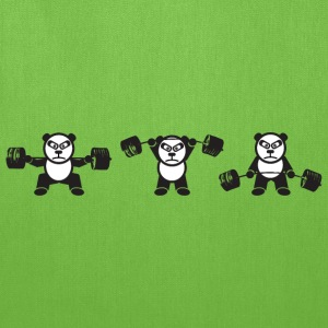 Weightlifting Panda Bear (Squat, Press, Deadlift) T-Shirts - Tote Bag