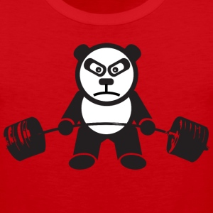 Weightlifting Panda Bear (Deadlift) T-Shirts - Men's Premium Tank
