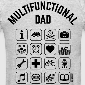 Multifunctional Dad (16 Icons) Hoodies - Men's T-Shirt