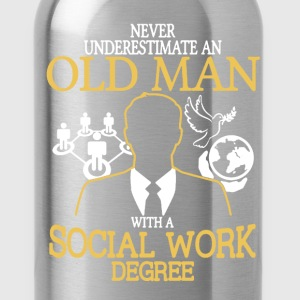 Old Man Social Work - Water Bottle