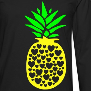 pineapple with heart - Men's Premium Long Sleeve T-Shirt