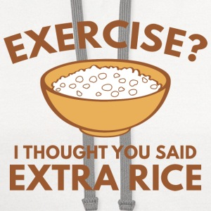 Exercise ? Extra Rice - Contrast Hoodie