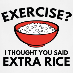 Exercise ? Extra Rice - Adjustable Apron