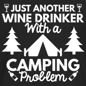 Wine Drinker Camping - Men's Premium Long Sleeve T-Shirt