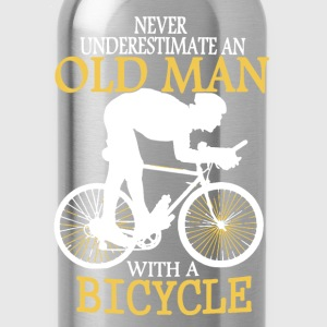 Bicycle Old Man - Water Bottle
