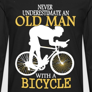 Bicycle Old Man - Men's Premium Long Sleeve T-Shirt