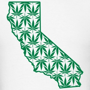 Cali Pot Leaf Hoodies - Men's T-Shirt