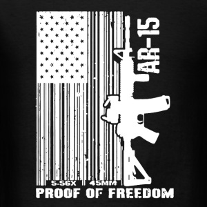AR-15 Proof Of Freedom - Men's T-Shirt