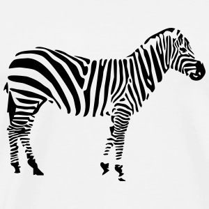Zebra Hoodies - Men's Premium T-Shirt