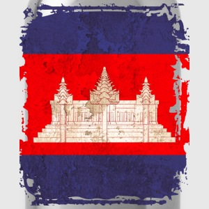 Cambodia Flag T-shirt - Water Bottle
