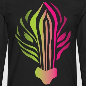 Neon Zebra Shirt - Men's Premium Long Sleeve T-Shirt