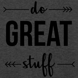 Do Great Stuff Tanks - Men's V-Neck T-Shirt by Canvas