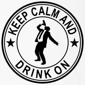 Keep Calm And Drink On Seal Polo Shirts - Men's Premium Long Sleeve T-Shirt