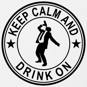 Keep Calm And Drink On Seal Polo Shirts - Men's Premium Tank