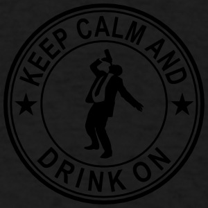 Keep Calm And Drink On Seal Caps - Men's T-Shirt