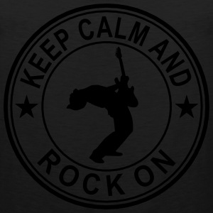 Keep Calm And Rock On Seal Long Sleeve Shirts - Men's Premium Tank