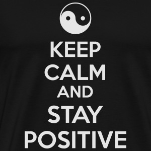 Keep Calm Ying Yang Hoodies - Men's Premium T-Shirt