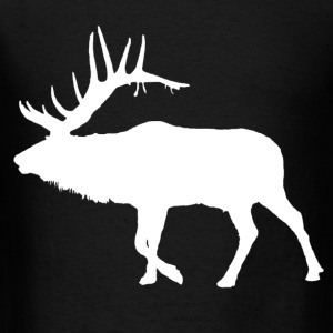 Bull elk white  - Men's T-Shirt