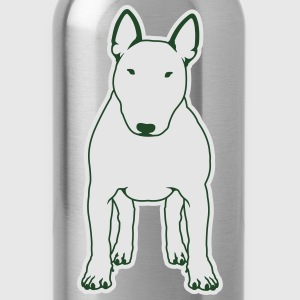 Bull Terrier FRONT white Women's T-Shirts - Water Bottle