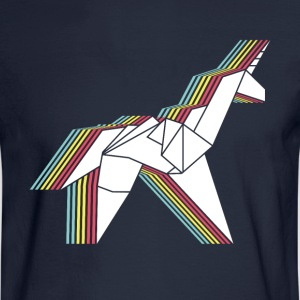 Origami Unicorn - Men's Long Sleeve T-Shirt