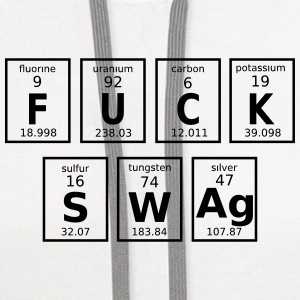 Periodic Table Of Fuck Swag Caps - Contrast Hoodie