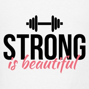 Strong is beautiful Tanks - Men's T-Shirt