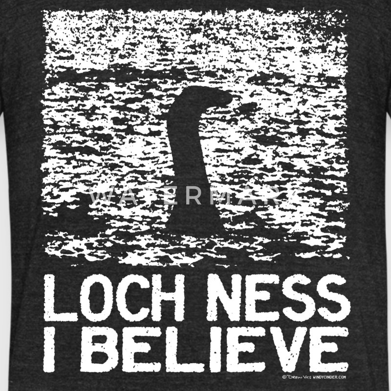 Loch Ness I Believe T-Shirts - Unisex Tri-Blend T-Shirt by American Apparel