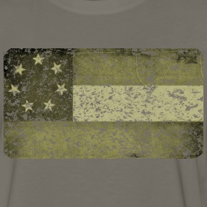 First Confederate Flag, Stars and Bars in Olive - Men's Premium Long Sleeve T-Shirt