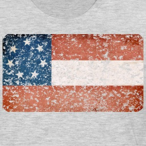 First Confederate Flag, Stars and Bars, Red white - Men's Premium Long Sleeve T-Shirt