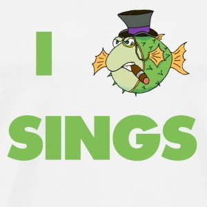 The Fugu Network I Fish Sings Pillowcase - Men's Premium T-Shirt