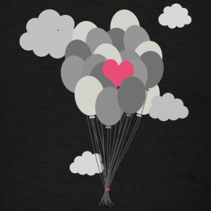 heart balloon between gray ballons Caps - Men's T-Shirt