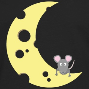 mouse on the cheese moon Caps - Men's Premium Long Sleeve T-Shirt