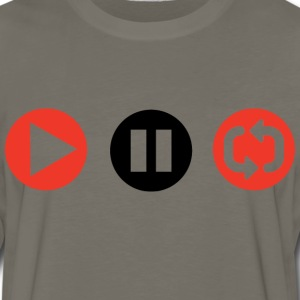 Play Pause Repeat T-Shirts - Men's Premium Long Sleeve T-Shirt