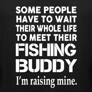 Raising My Fishing Buddy - Men's Premium Tank