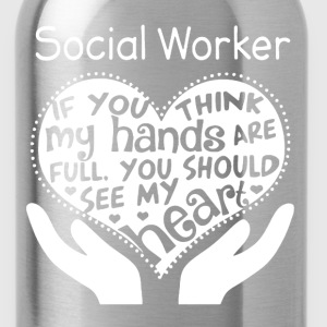 Social Worker Shirt - Water Bottle