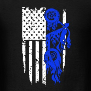 Biker Flag Shirt - Men's T-Shirt