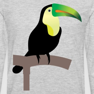 Bird standing on a pole T-Shirts - Men's Premium Long Sleeve T-Shirt