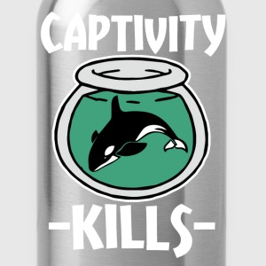 Captivity Kills Save the Orca Whales  - Water Bottle