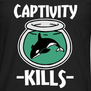 Captivity Kills Save the Orca Whales  - Men's Premium Long Sleeve T-Shirt