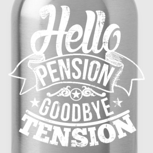 Hello Pension Retirement T-Shirts - Water Bottle