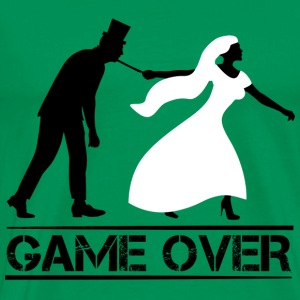game over bride and groom wedding stag night Hoodies - Men's Premium T-Shirt