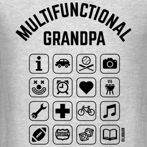 Multifunctional Grandpa (16 Icons) Long Sleeve Shirts - Men's T-Shirt