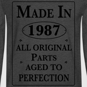 made in 1987 birthday T-Shirts - Men's Long Sleeve T-Shirt