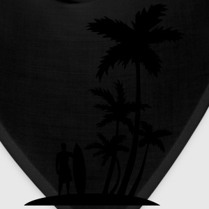 Surfer and palm trees T-Shirts - Bandana