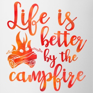 Life's Better Campfire T-Shirt - Coffee/Tea Mug