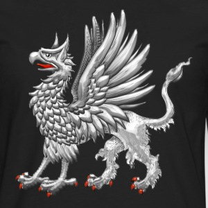 Sacred Silver Griffin  - Men's Premium Long Sleeve T-Shirt
