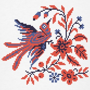 Cross-stitch folklore Charm bird on twig of flower Other - Men's T-Shirt