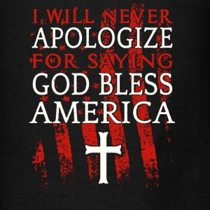 God Bless America shirt - Men's T-Shirt