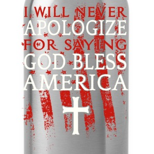 God Bless America shirt - Water Bottle